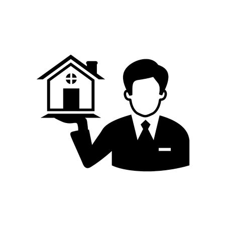 estate: real estate agent Illustration