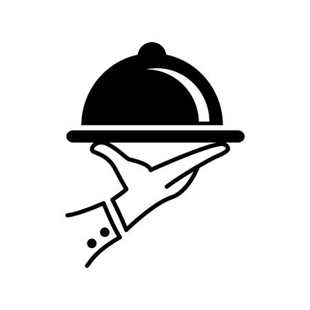 Couverte icône de plaque Banque d'images - 45809583