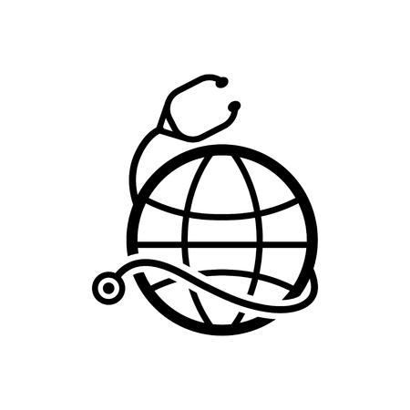 salud: icono de la salud mundial Vectores