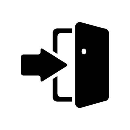 login button: Door sign icon login symbol.