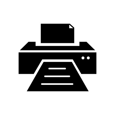 multifunction printer: printer icon Illustration