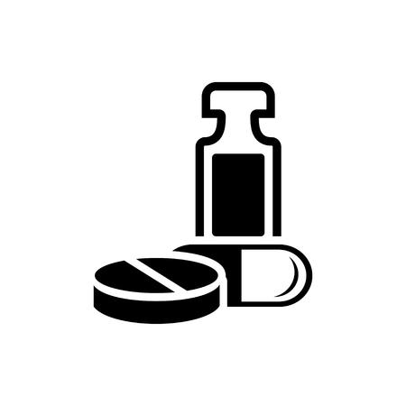 bottle of medicine: medicine bottle  icon Illustration