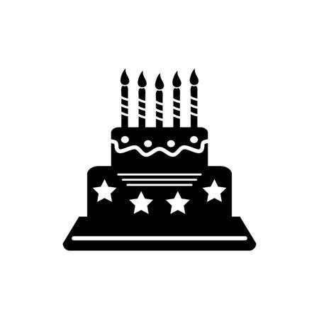 pastel de cumplea�os: icono de pastel de cumplea�os
