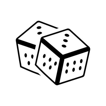 dados: Dados icono. icono de juego de casino Vectores