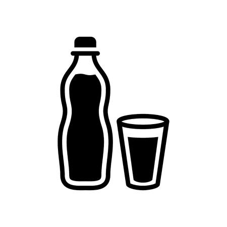 drinking water sign: water bottle and cup icon
