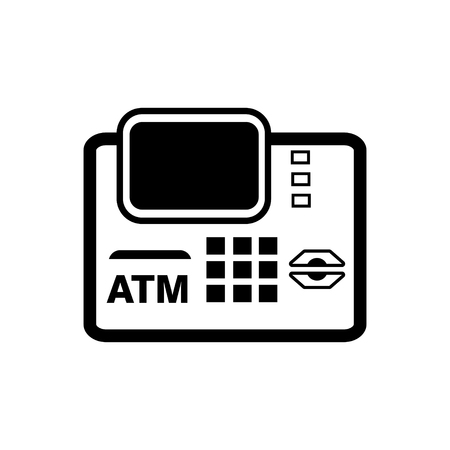 technology transaction: ATM machine  icon