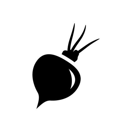 remolacha: Icono de remolacha Vectores