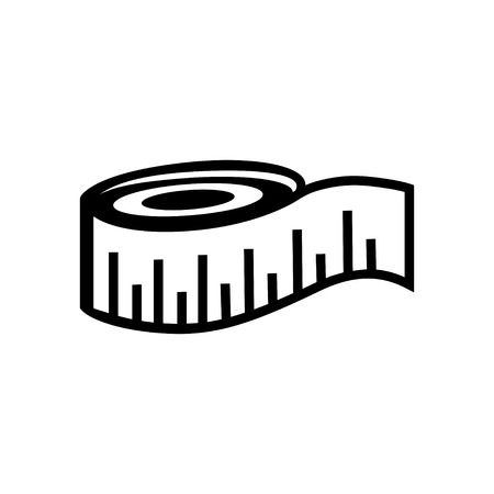 instrument of measurement: measuring tape icon