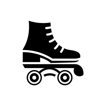 rollerblades: roller skate vector icon illustration