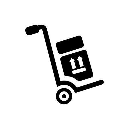 dolly: hand truck icon Illustration