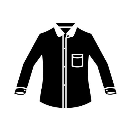 camisa: mangas largas icono de la camisa