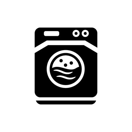 washing machine: washer machine   icon Illustration