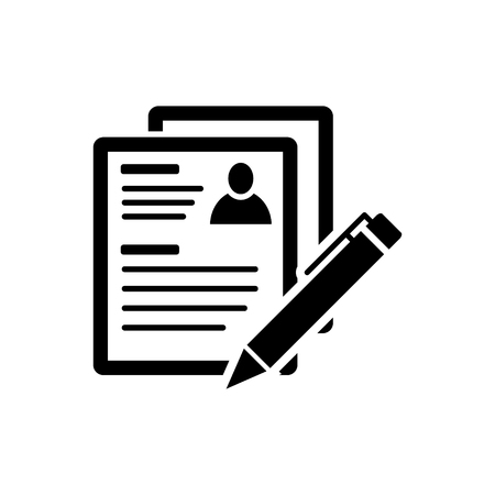 Resume icon Stock Illustratie