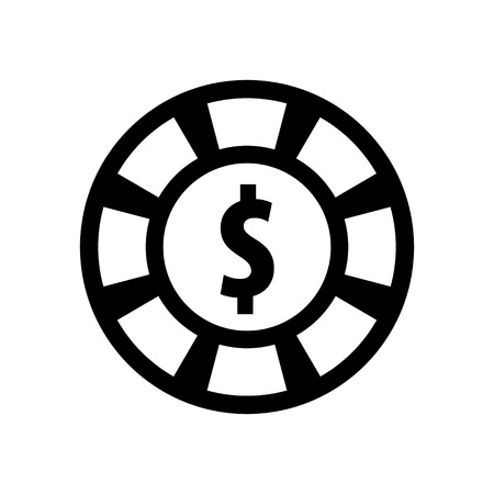 dollar icon: casino chips with dollar icon Illustration