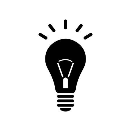 Light Bulb Icon Bright Idea Symbol