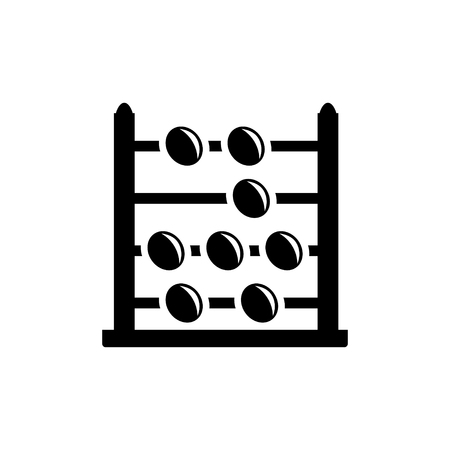 an abacus: abacus icon Illustration