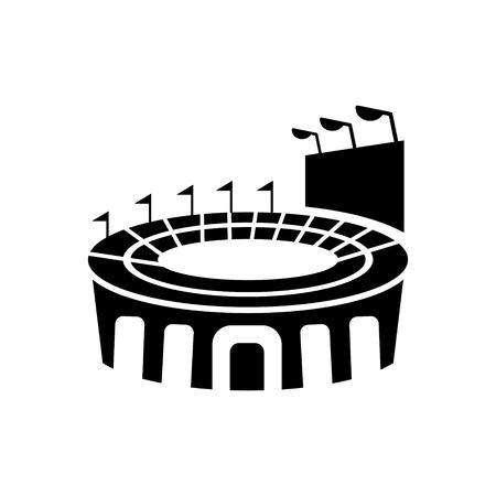 soccer stadium: Stadium sign icon