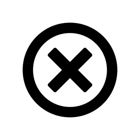delete: Delete sign icon. Remove button