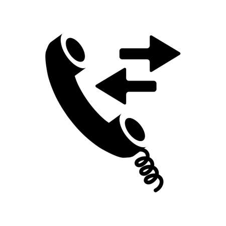 phone and call: phone call  sign icon Illustration