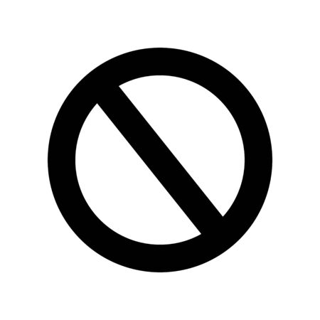 Stop sign icon. No sign