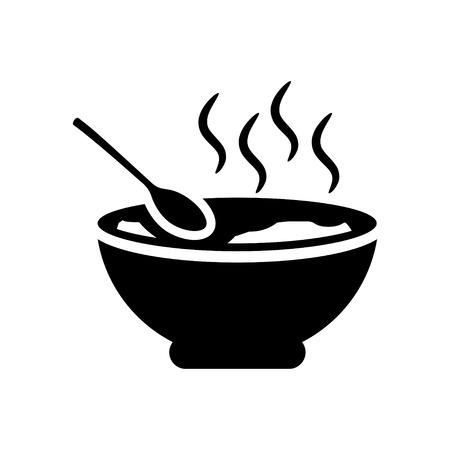 Tazón de sopa icono Foto de archivo - 45816241