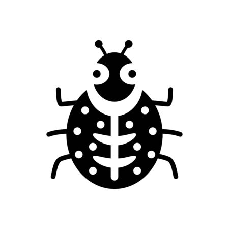 sympathetic: Vector sign ladybug