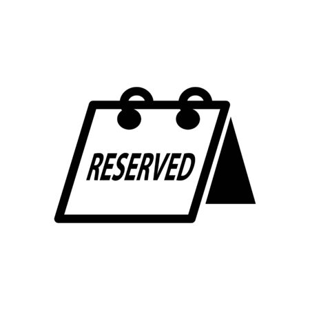 reserved: reserved sign icon