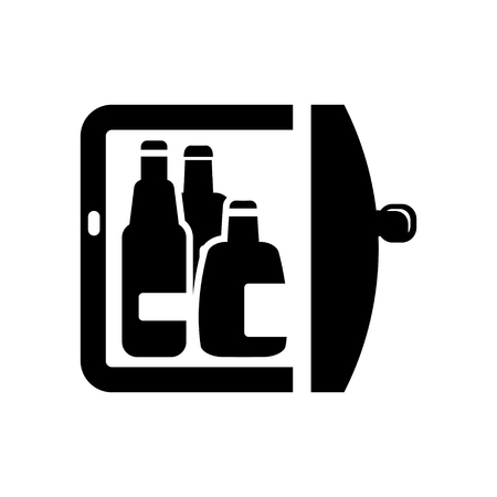 steel bar: refrigerator icon