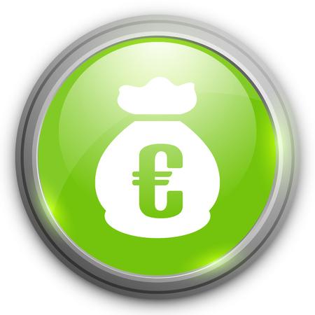 euro money: Euro money bag sign icon