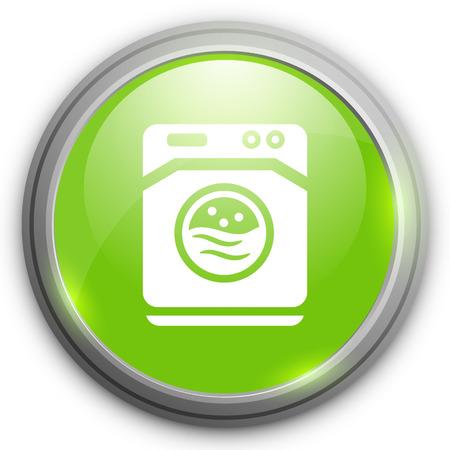 washer machine: washer machine   icon Illustration