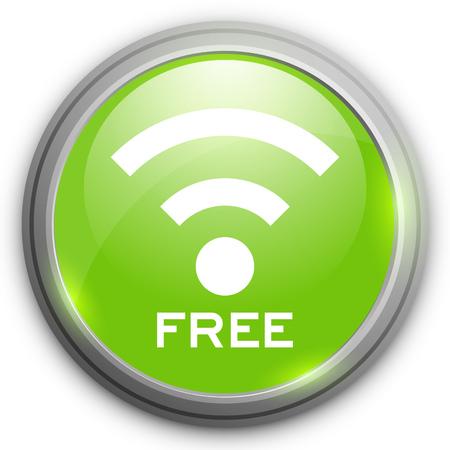free WiFi icon Illustration
