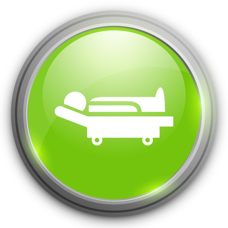 patient bed: patient bed  icon Illustration