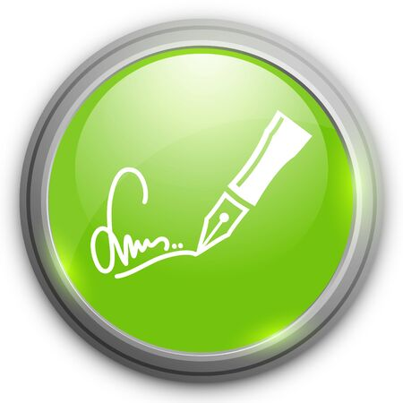 autographing: signing contract   icon