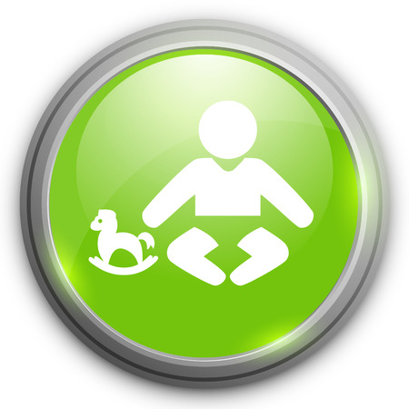 cute baby girls: baby sit  icon Illustration