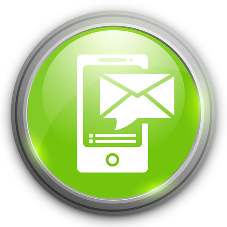mobile devices: Mobile devices icon sending message.