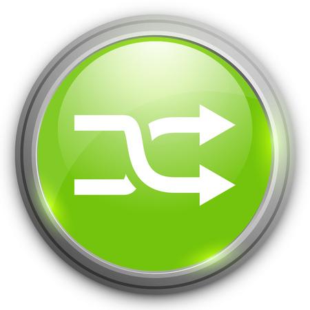 random: Shuffle sign icon. Random button.
