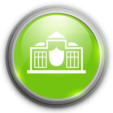 police station: police station  icon Illustration