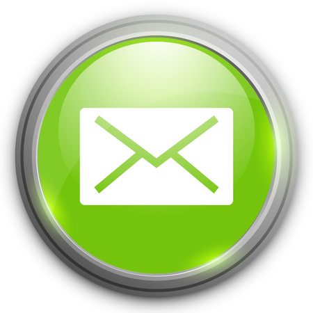 by mail: Mail icon. Message button Illustration