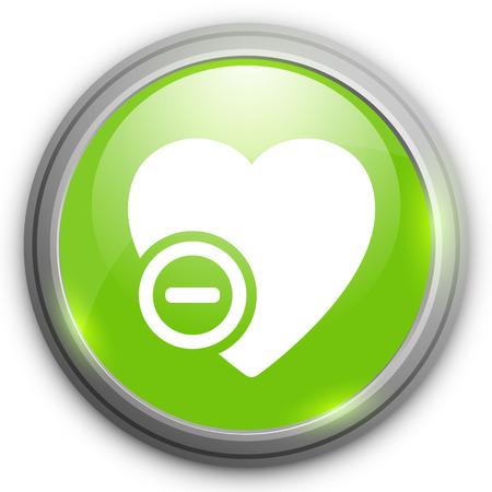 remove: Heart icon. Remove sign