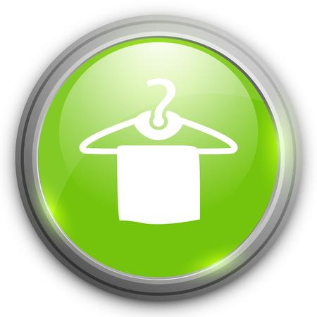clothing rack: towel hanger  icon Illustration