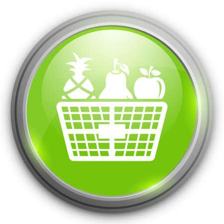 fruit basket: fruit basket icon Illustration