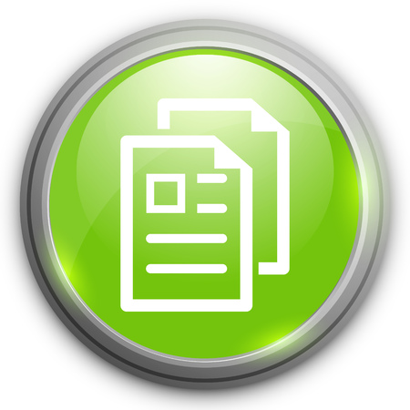 the copy: Copy file icon. Duplicate document symbol. Illustration