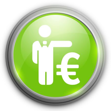 business sign: Business man with Euro sign Illustration