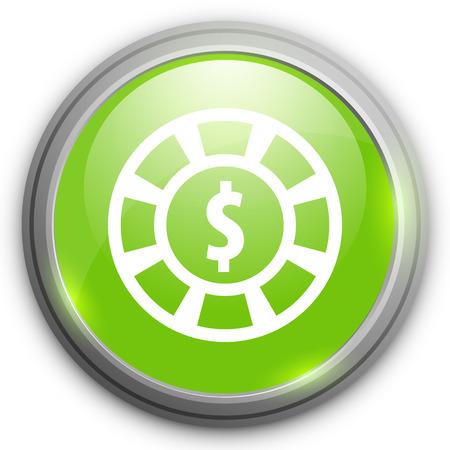 dollar icon: casino chips with dollar icon Illustration