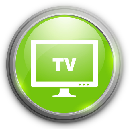mode: TV mode sign icon. Television button Illustration