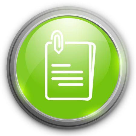 attach: File annex icon. Paper clip symbol. Attach symbol