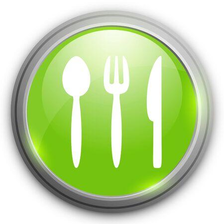 silverware: icono de los cubiertos Vectores