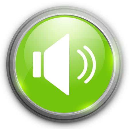Speaker volume icon. Sound button.