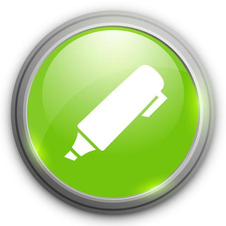 highlight: highlight pen icon Illustration