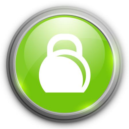 levantando pesas: Pesos de elevación del icono